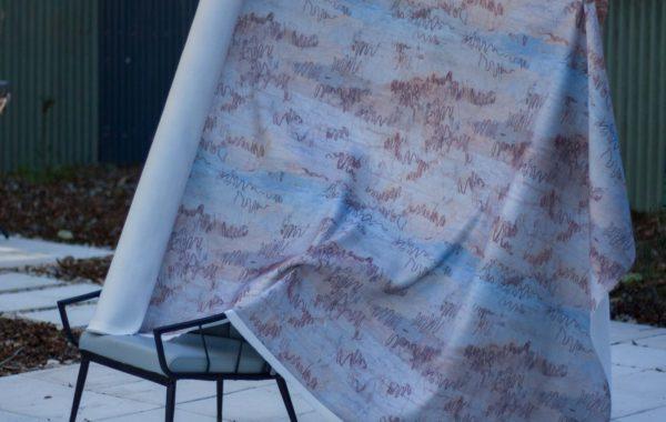 Mackenzie Fabrics Squiggly Gum – $94 / metre